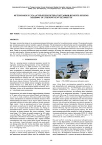 Autonomous Unmanned Helicopter System fo... by Merz, T.