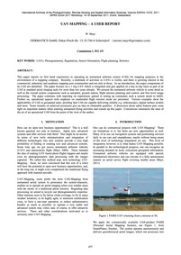 Uav-mapping – a User Report : Volume Xxx... by Mayr, W.