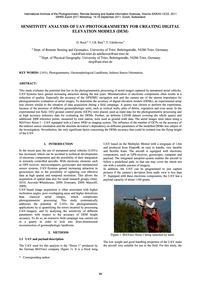 Sensitivity Analysis of Uav-photogrammet... by Rock, G.