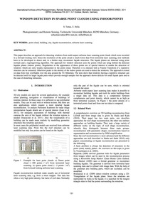 Window Detection in Sparse Point Clouds ... by Tuttas, S.