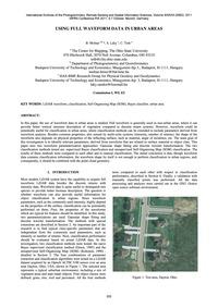 Using Full Waveform Data in Urban Areas ... by Molnar, B.