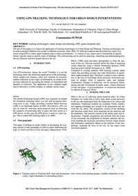 Using Gps-tracking Technology for Urban ... by Van Der Spek, S. C.