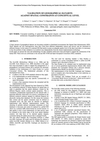 Validation of Geographical Datasets Agai... by Belussi, A.