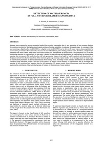 Detection of Water Surfaces in Full-wave... by Schmidt, A.