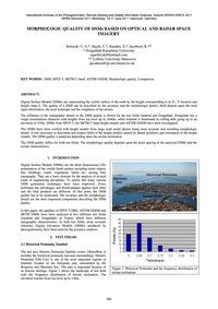 Morphologic Quality of Dsms Based on Opt... by Sefercik, U. G.