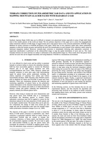 Terrain Correction of Polarimetric Sar D... by Tian, B.