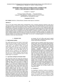 Orthorectification of World View 2 Stere... by Deltsidis, P.