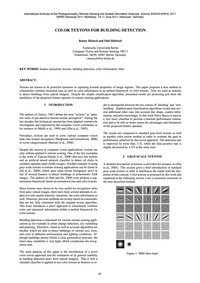 Color Textons for Building Detection : V... by Hänsch, R.