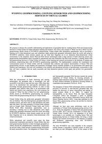Wysiwyg Geoprocessing: Coupling Sensor W... by Zhai, X.