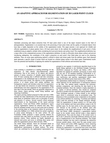 An Adaptive Approach for Segmentation of... by Lari, Z.