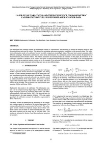 Laser Pulse Variations and Their Influen... by Roncat, A.