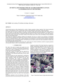 3D Virtual Reconstruction of an Urban Hi... by Galizia, M.