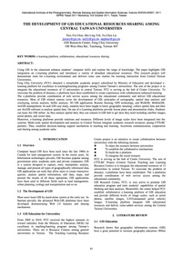 The Development of Gis Educational Resou... by Chou, T.-y.