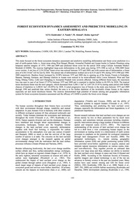 Forest Ecosystem Dynamics Assessment and... by Kushwaha, S. P. S.