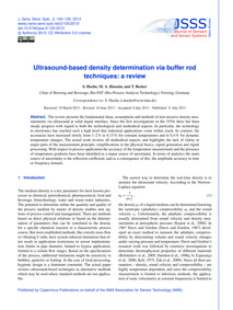 Ultrasound-based Density Determination V... by Hoche, S.