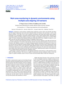 Work Area Monitoring in Dynamic Environm... by Wang, Y.