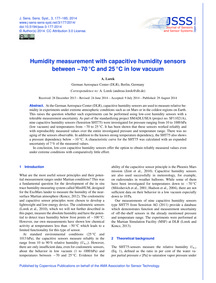 Humidity Measurement with Capacitive Hum... by Lorek, A.