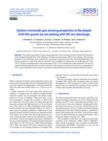 Carbon Monoxide Gas Sensing Properties o... by Kishimoto, S.