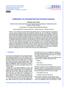 Calibration of Uncooled Thermal Infrared... by Budzier, H.