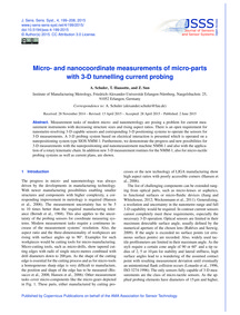 Micro- and Nanocoordinate Measurements o... by Schuler, A.