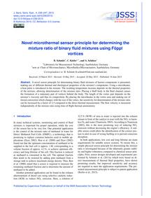 Novel Microthermal Sensor Principle for ... by Schmitt, B.