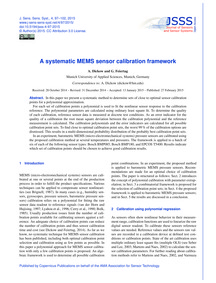 A Systematic Mems Sensor Calibration Fra... by Dickow, A.