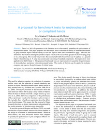 A Proposal for Benchmark Tests for Under... by Kragten, G. A.