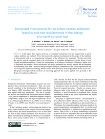 Compliant Mechanisms for an Active Cardi... by Rubbert, L.