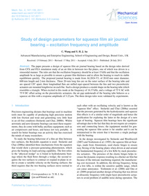 Study of Design Parameters for Squeeze F... by Wang, C.