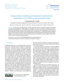 Quasi-static Modelling of Compliant Mech... by Quennouelle, C.