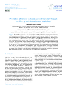 Prediction of Railway Induced Ground Vib... by Kouroussis, G.