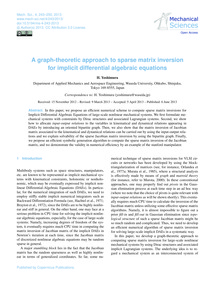 A Graph-theoretic Approach to Sparse Mat... by Yoshimura, H.