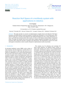 Reaction Null Space of a Multibody Syste... by Nenchev, D. N.