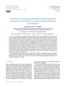 The Influence of Water Jet Diameter and ... by Den Dunnen, S.