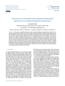 A Function for Characterizing Complete K... by Li, G.