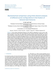Biomechanical Comparison Using Finite El... by Gok, K.