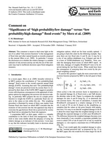 Comment on Significance of High Probabil... by Rheinberger, C. M.