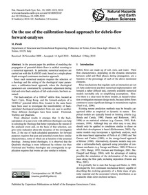 On the Use of the Calibration-based Appr... by Pirulli, M.