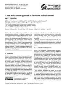A New Multi-sensor Approach to Simulatio... by Behrens, J.