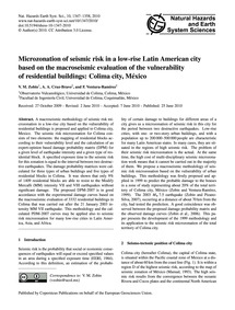 Microzonation of Seismic Risk in a Low-r... by Zobin, V. M.