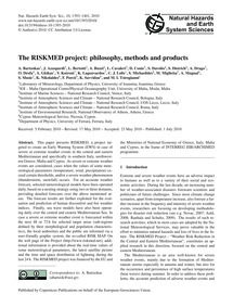 The Riskmed Project: Philosophy, Methods... by Bartzokas, A.