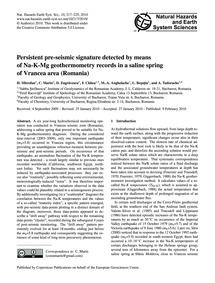 Persistent Pre-seismic Signature Detecte... by Mitrofan, H.