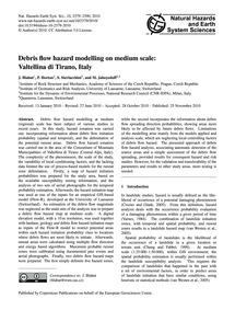 Debris Flow Hazard Modelling on Medium S... by Blahut, J.
