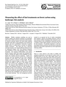 Measuring the Effect of Fuel Treatments ... by Ager, A. A.