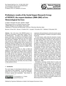 Preliminary Results of the Social Impact... by Amaro, J.