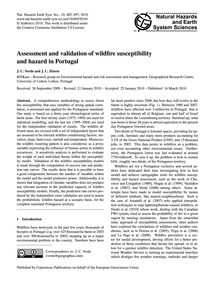 Assessment and Validation of Wildfire Su... by Verde, J. C.