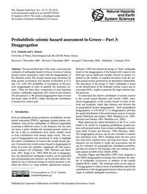 Probabilistic Seismic Hazard Assessment ... by Tselentis, G-a.