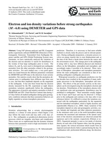 Electron and Ion Density Variations Befo... by Akhoondzadeh, M.