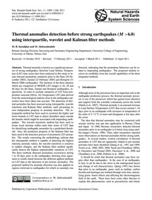 Thermal Anomalies Detection Before Stron... by Saradjian, M. R.