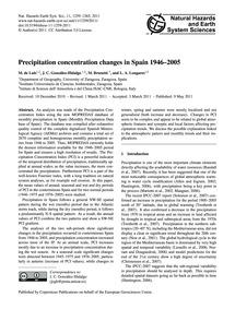 Precipitation Concentration Changes in S... by De Luis, M.